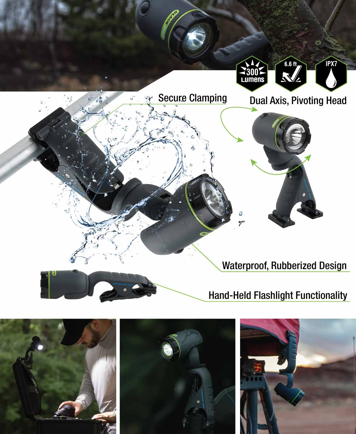 Extra features of the Blackfire Waterproof LED Clamplight