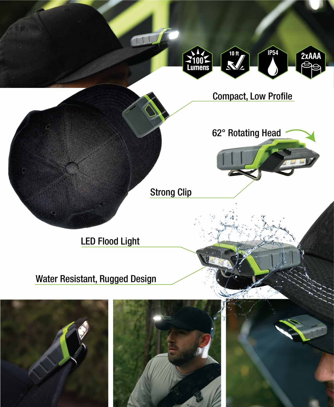 Extra features of the Blackfire Cap LED Clip Light